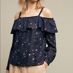 Anthropologie Floreat Starlit blouse, XS